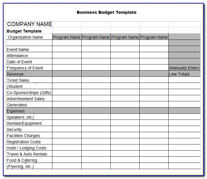 Business Plan Budget Template Excel Free