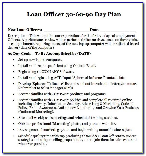 Business Plan For Loan Officer