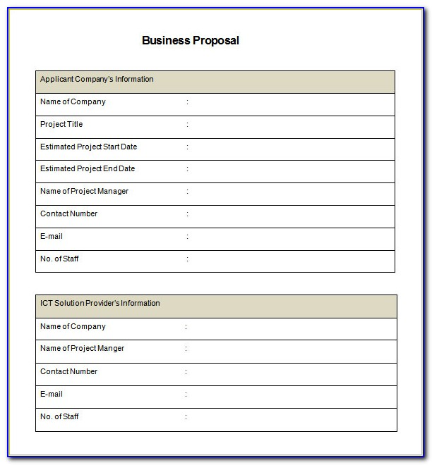 Business Proposal Template Free Download Pdf