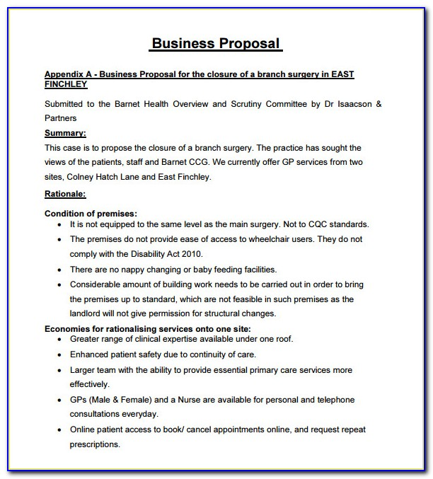 Business Proposal Template Free Download Word
