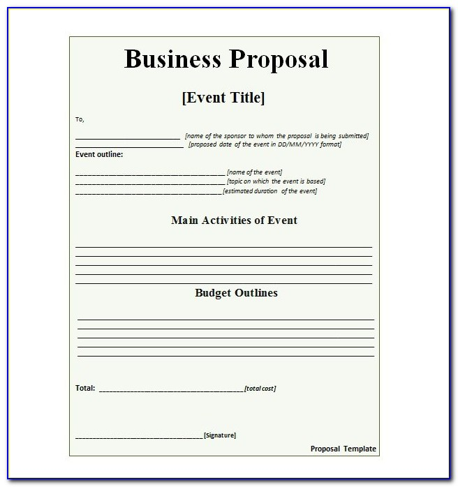 Business Proposal Template Pdf Download