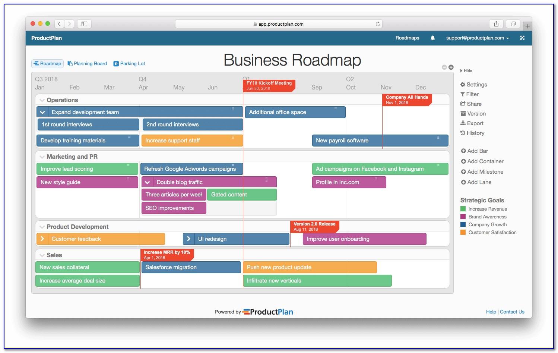 Business Roadmap Template Free