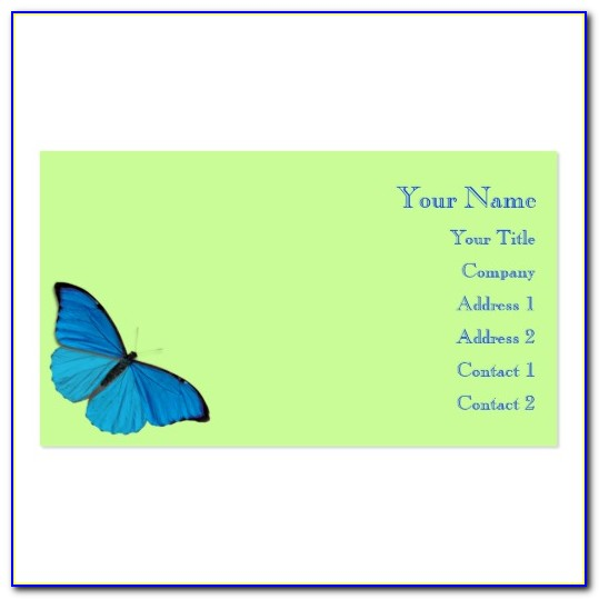 Butterfly Business Card Template