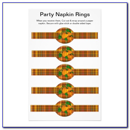 Butterfly Napkin Ring Template