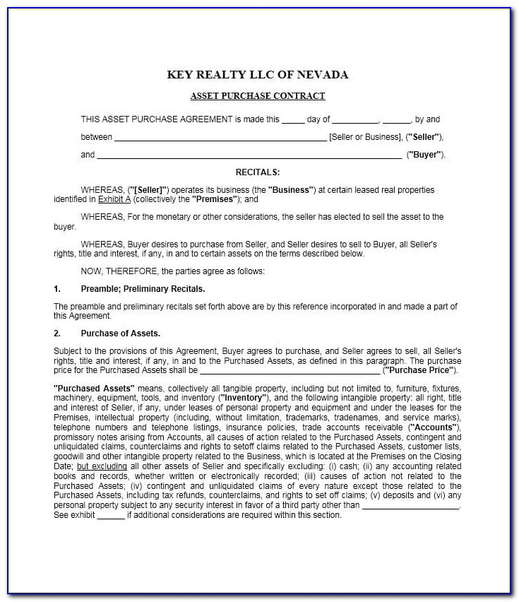 Buyers Contract Template