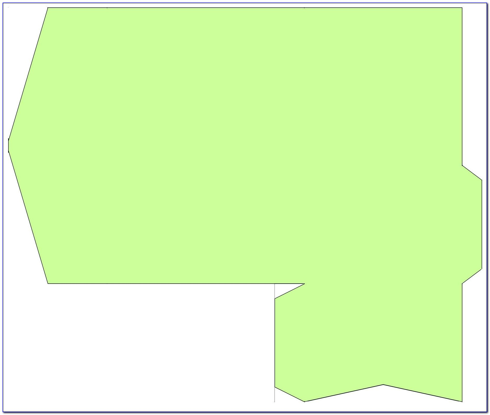 C4 Pocket Envelope Template