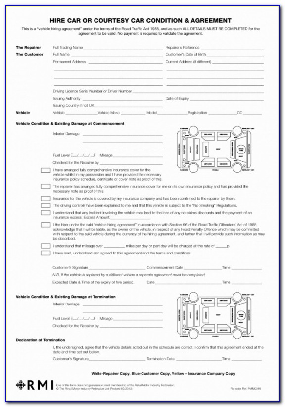 Best Image Of Car Hire Rental Agreement Template Uk From Our Collections