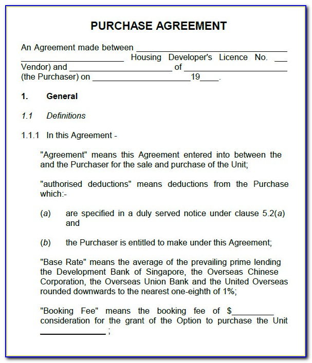 Car Purchase Agreement Template Nz