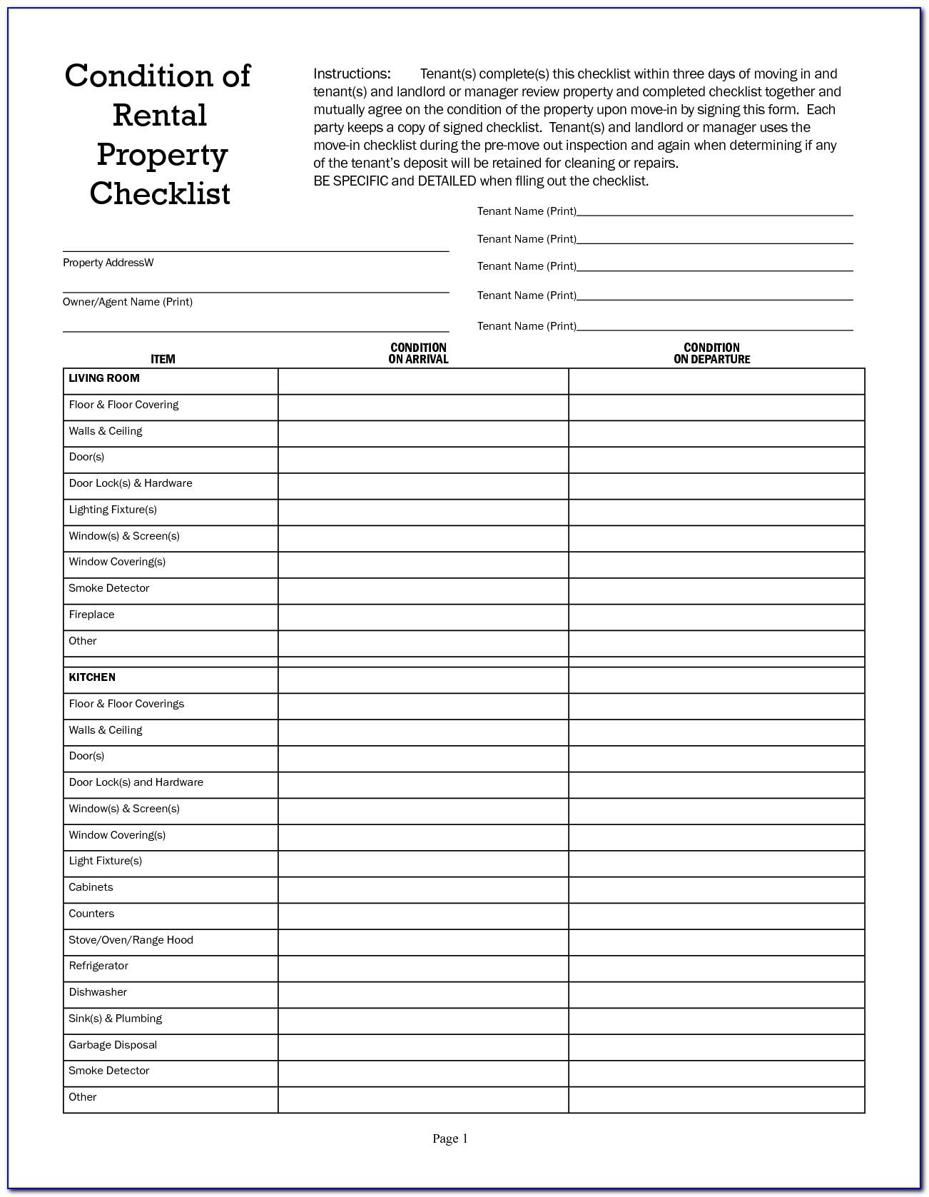 Car Rental Checklist Template