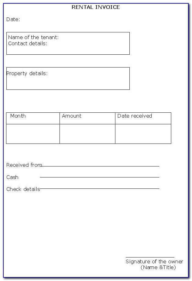 Car Rental Invoice Template Word