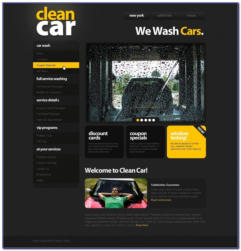 Car Wash Website Template Free