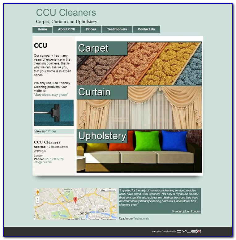 Carpet Cleaning Service Website Templates