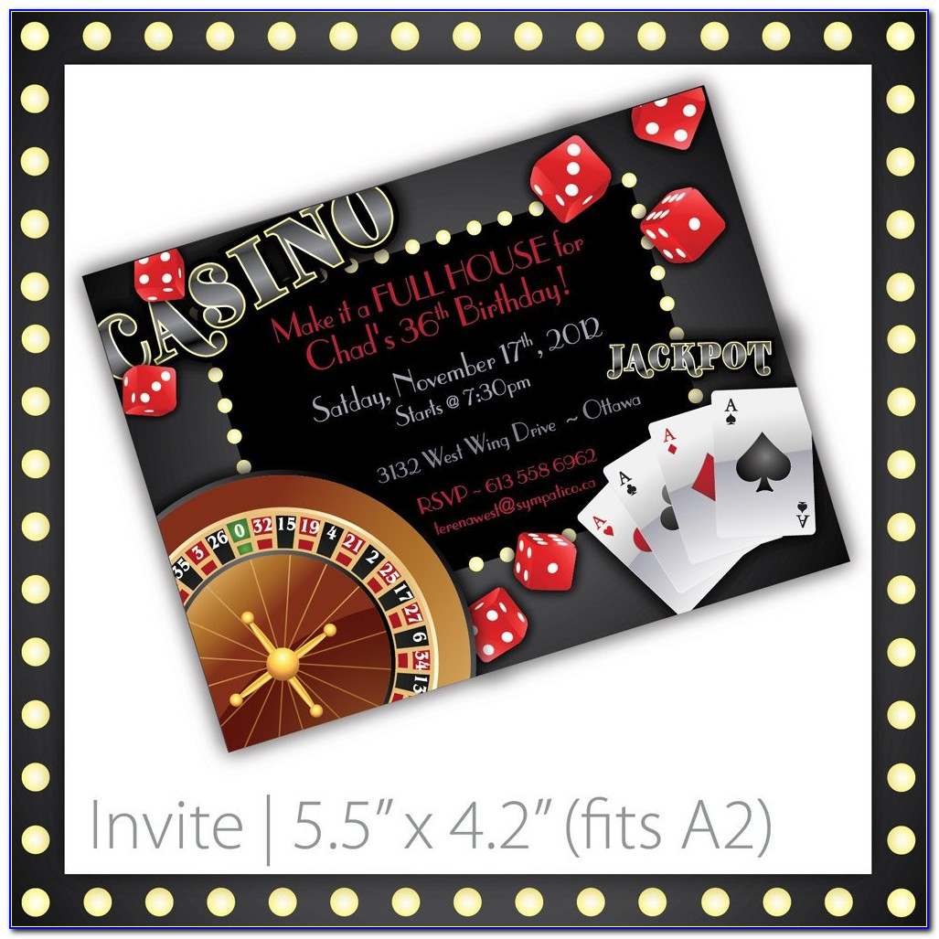 Casino Theme Party Invitations Template Free