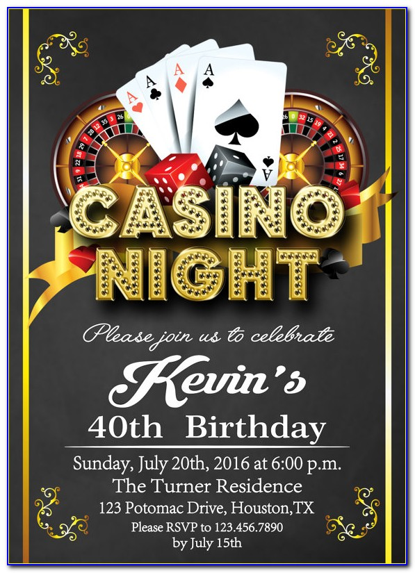 Casino Theme Party Invite