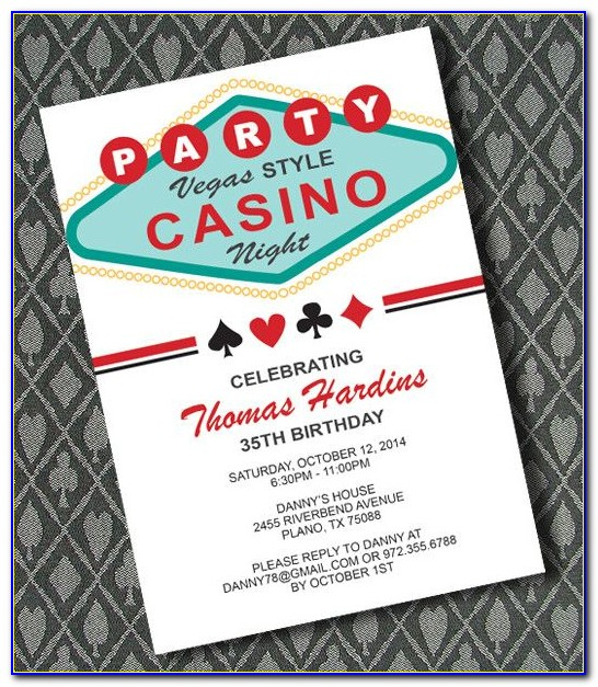 Casino Themed Party Invitations