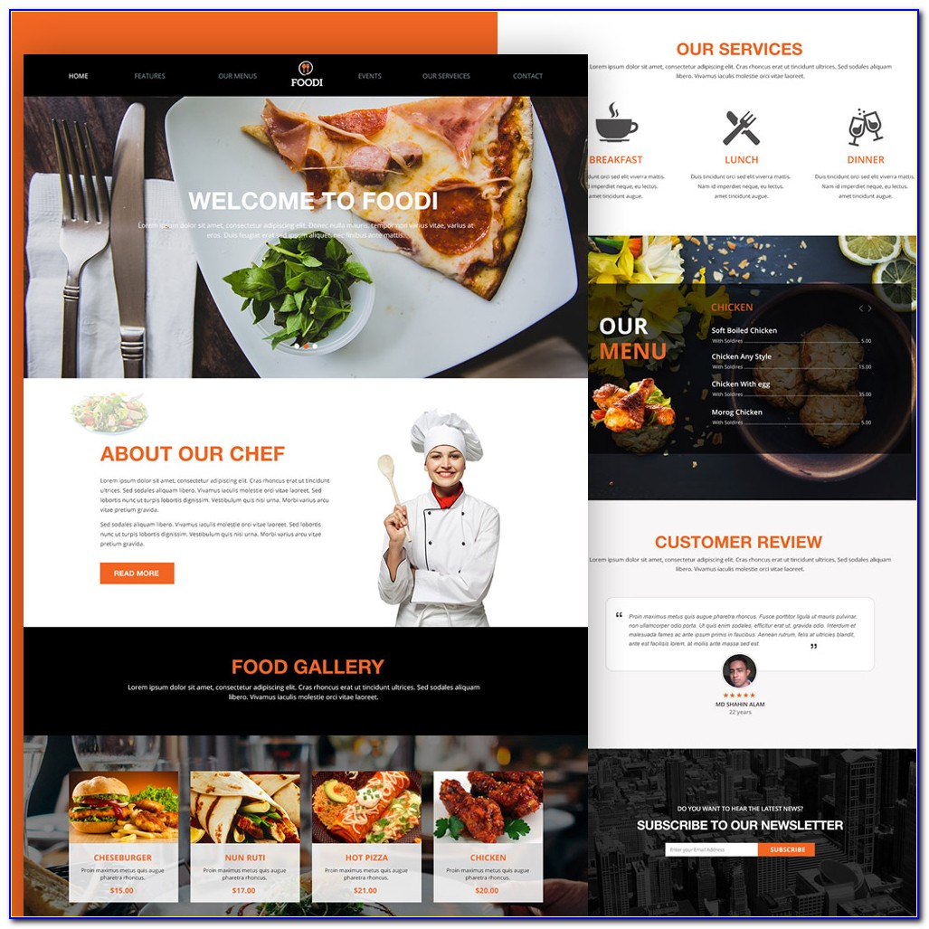 Catering Website Template Free Download
