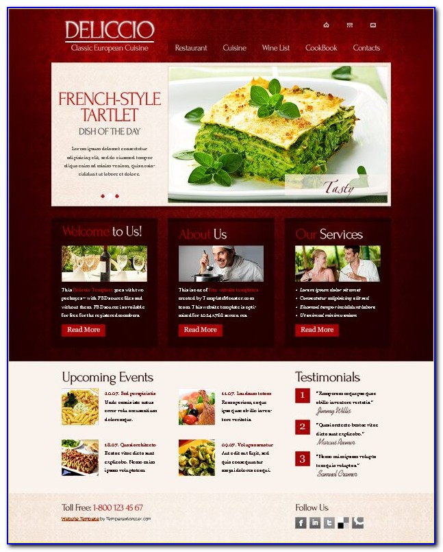 Catering Website Templates Free Download