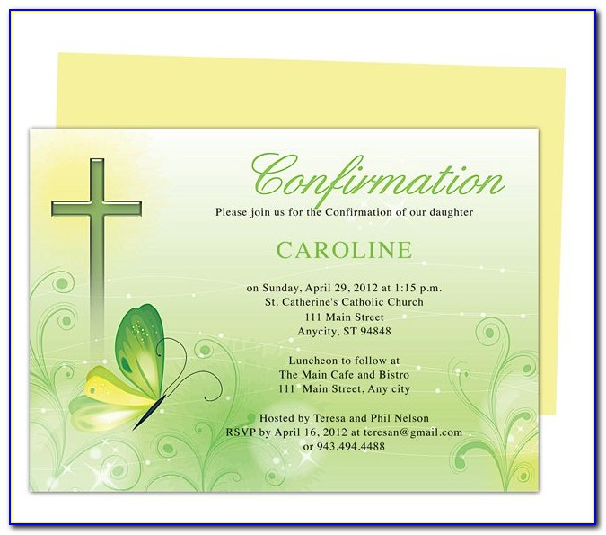 Catholic Confirmation Invitation Template