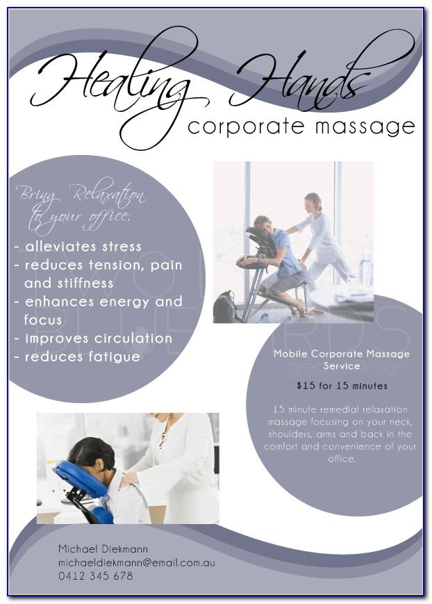 Chair Massage Flyer Templates