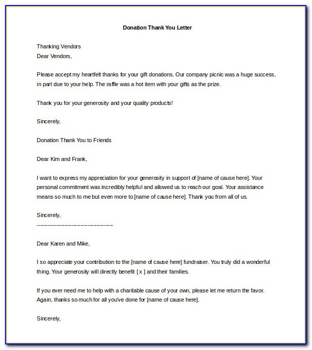Charity Fundraiser Letter Template