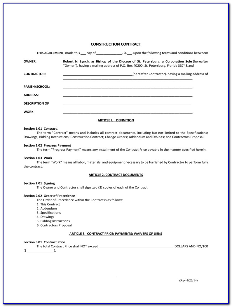 Simple Contract Template 6 Free Templates In Pdf Word Excel