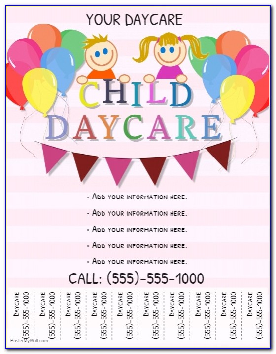 Child Care Open Day Flyer Template