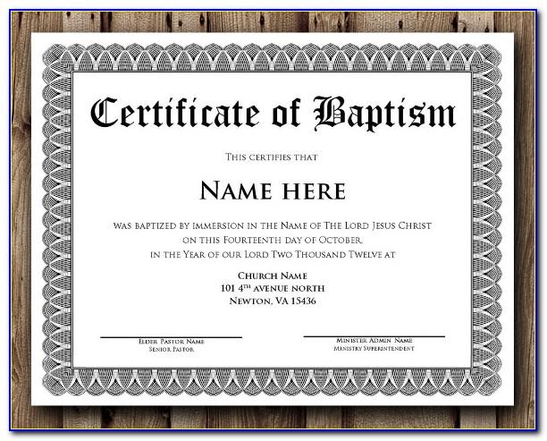 Christening Certificates Templates