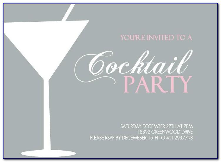 Christmas Cocktail Invitation Templates
