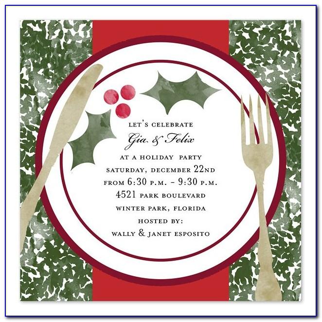Christmas Dinner Invitation Template Free