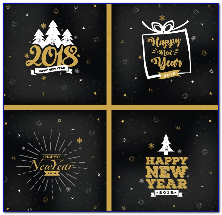 Christmas & New Year Greeting Card Design