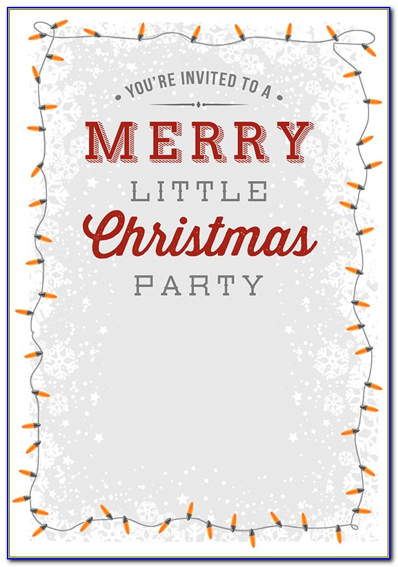 Christmas Party Invitation Templates Free Australia
