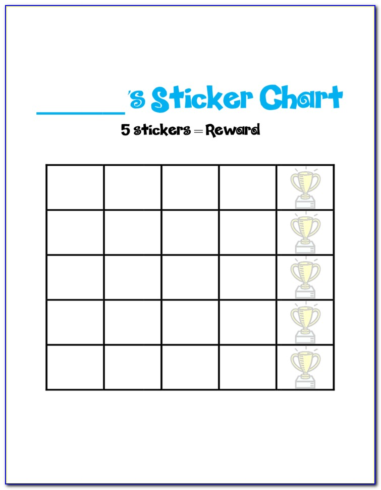Christmas Sticker Reward Chart Printable