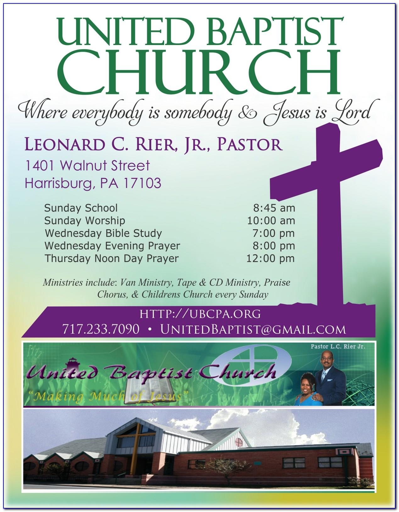 Church Invitation Templates Free
