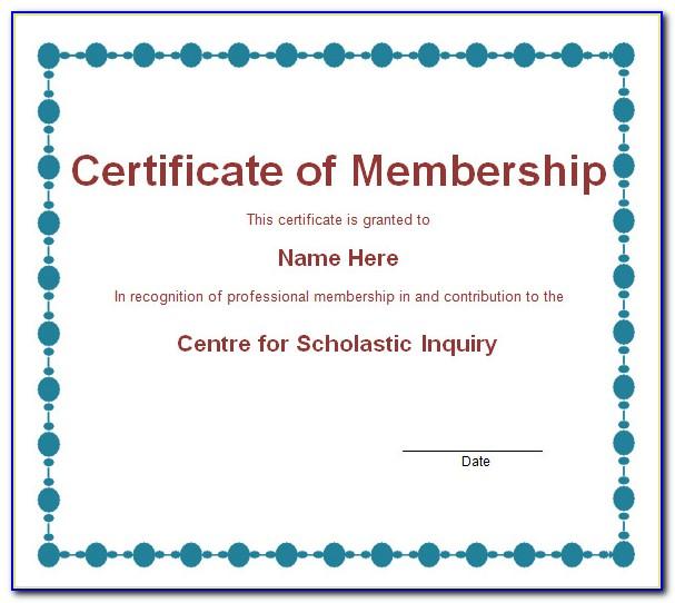 Church Membership Certificate Templates Free