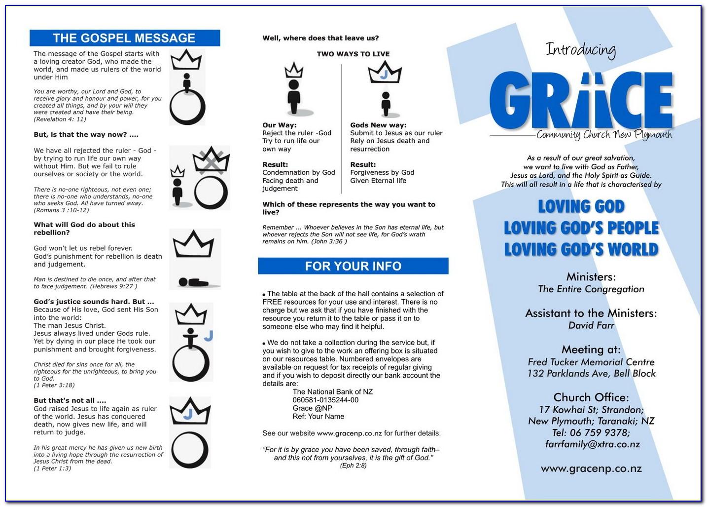 Church Tri Fold Brochure Template Free