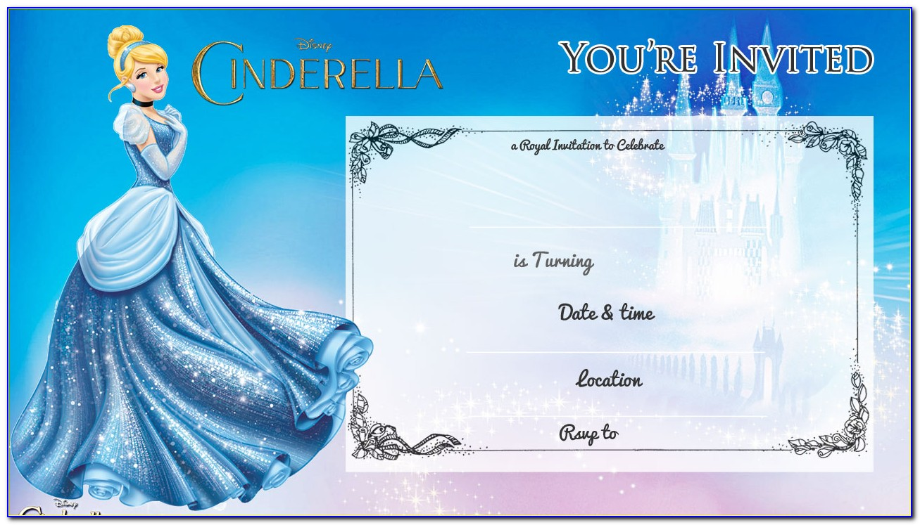 Cinderella Party Invite Templates