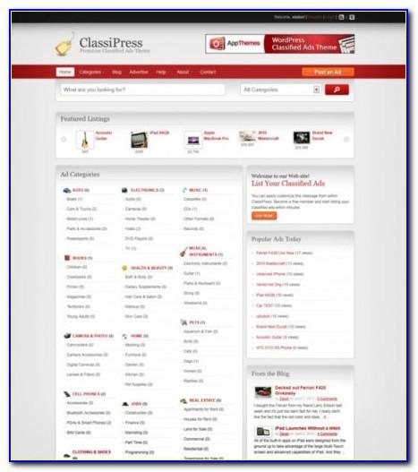 Classified Ads Website Template Wordpress