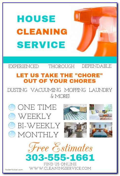 Cleaning Business Flyer Samples