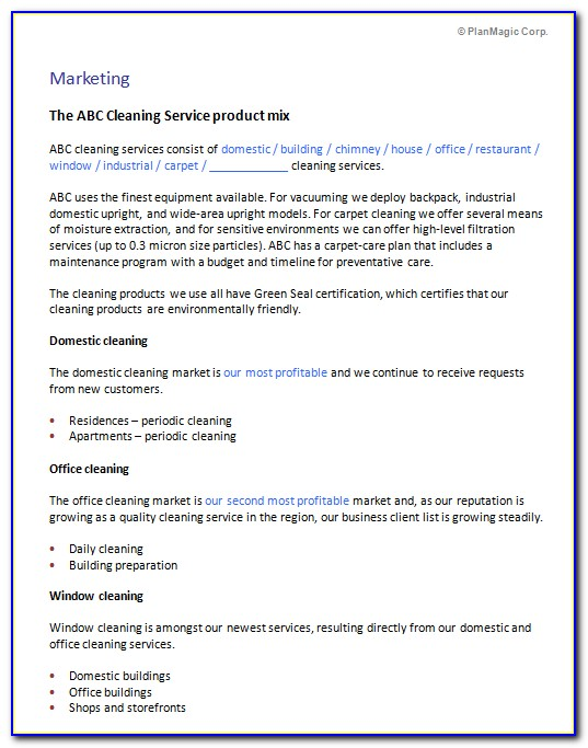 Cleaning Service Business Proposal Template