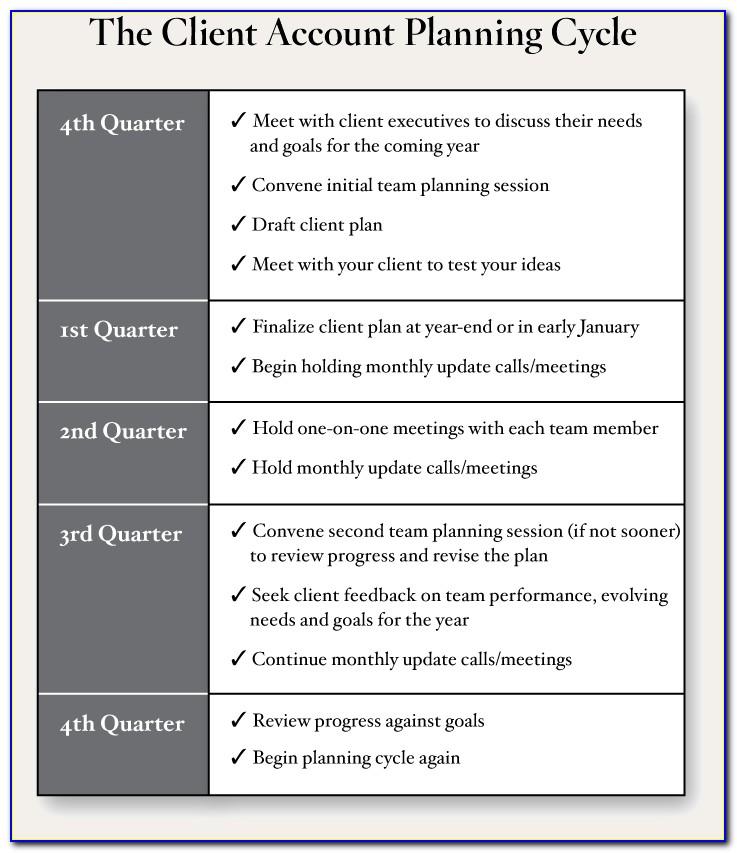 Client Account Management Plan Template