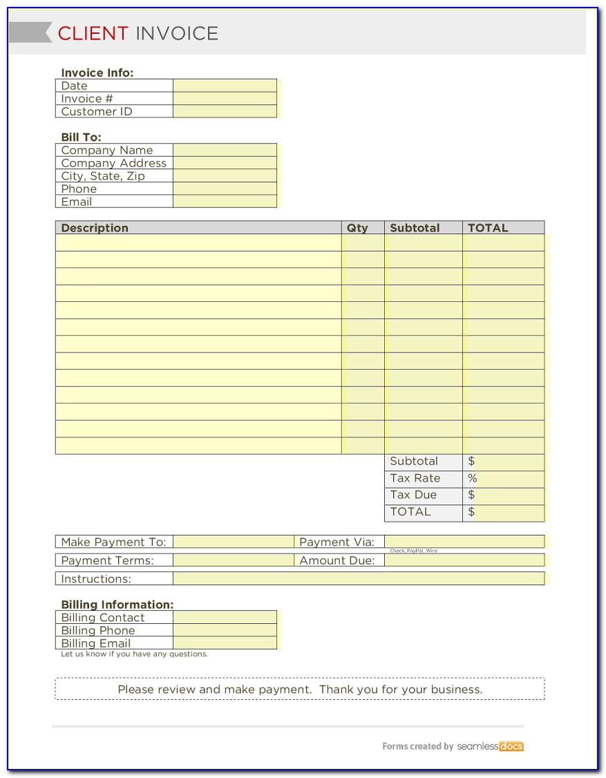 Client Invoice Template