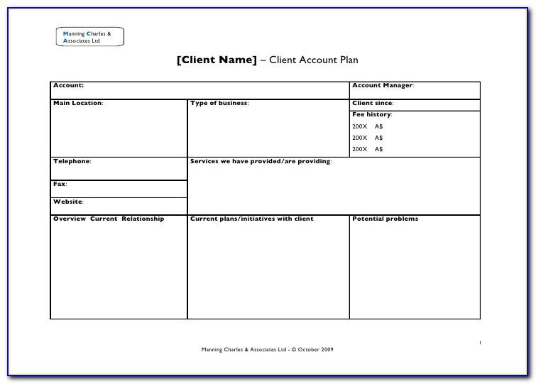 Client Management Plan Template