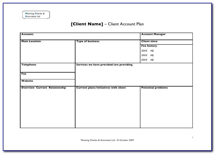 Client Relationship Management Plan Template