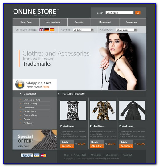 Clothing Website Templates Free Download