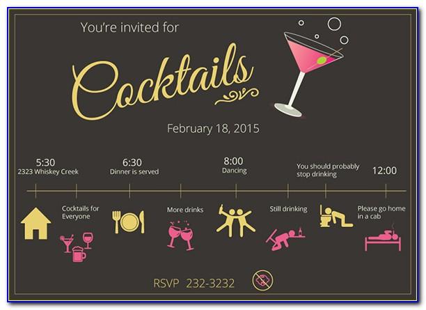 Cocktail Birthday Invitation Template