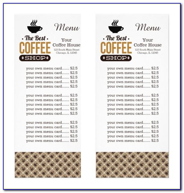 Coffee Menu Templates Free Download