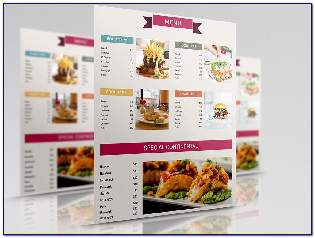 Coffee Shop Menu Design Templates Free Download