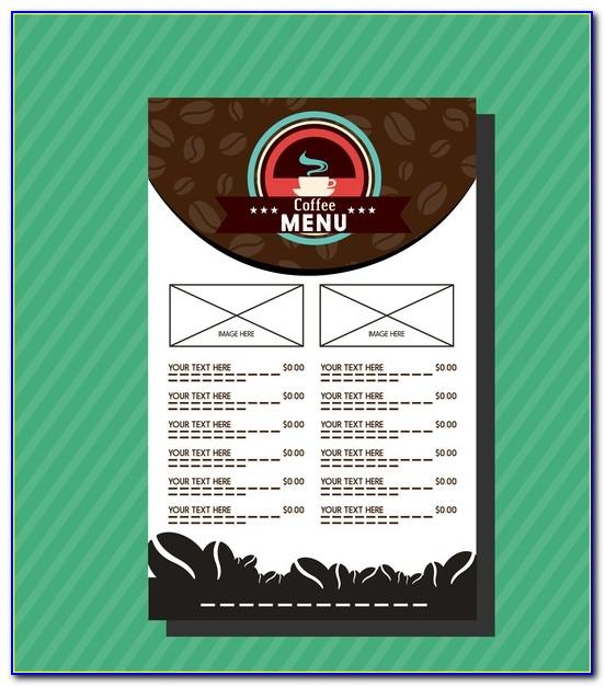 Coffee Shop Menu Templates Free