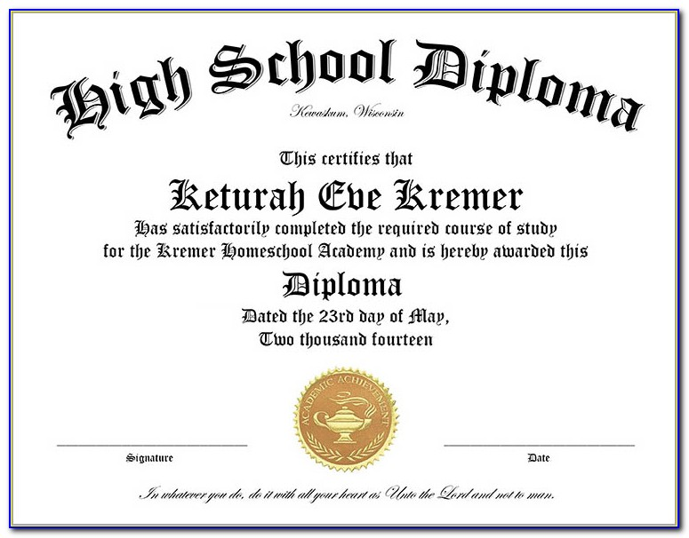 College Diploma Template Free Download