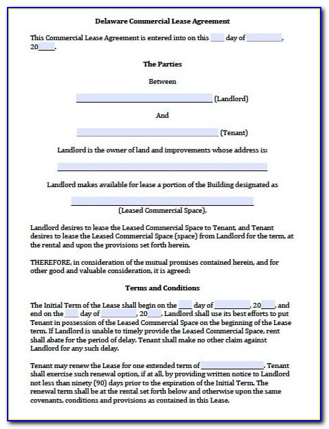 Commercial Lease Agreement Template South Africa Pdf